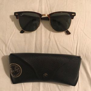 Gently used tortoise shell ray ban club masters